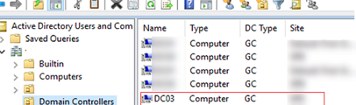 New domain controller in ADUC