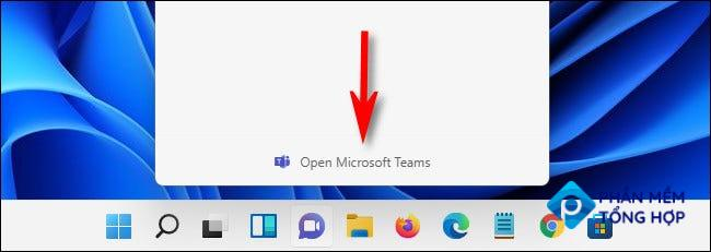 """If you click """"Open Microsoft Teams,"""" the full Microsoft Teams app will open."""