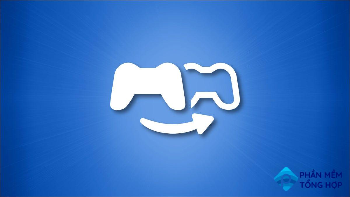 Sony PlayStation Share Play Logo on a blue background