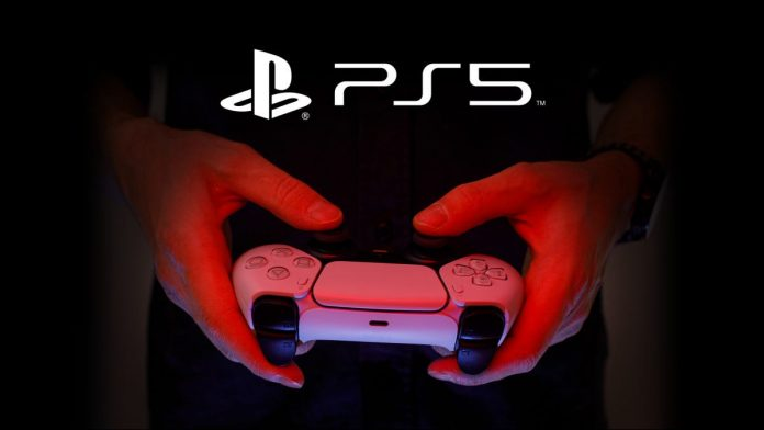 A person holding a PS5 controller.
