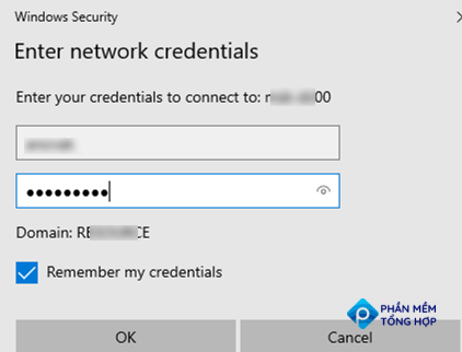 save credentials to access network shared in windows credential manager