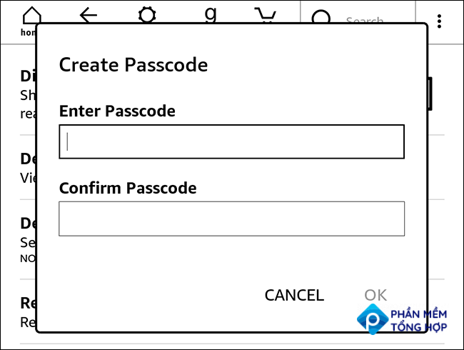 setting a kindle passcode