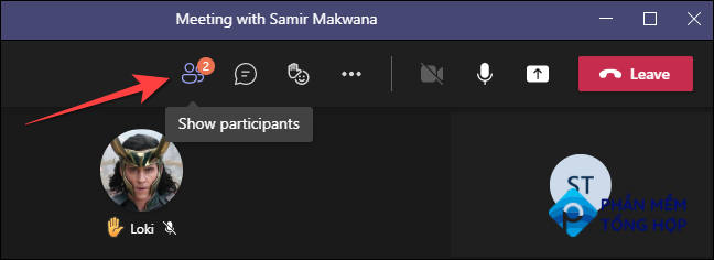 """During a video call in the Microsoft Teams desktop, select the """"Participants"""" button on the top."""