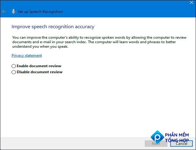 Choose whether to enable or disable document review.
