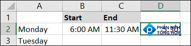 Correct format showing hours and minutes
