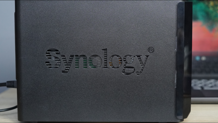 Close up of Synology drive