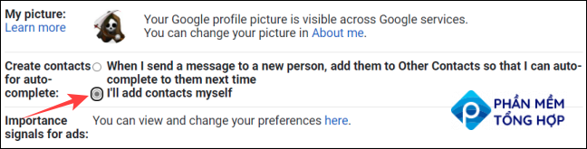 """Select the """"I'll add contacts myself"""" option."""