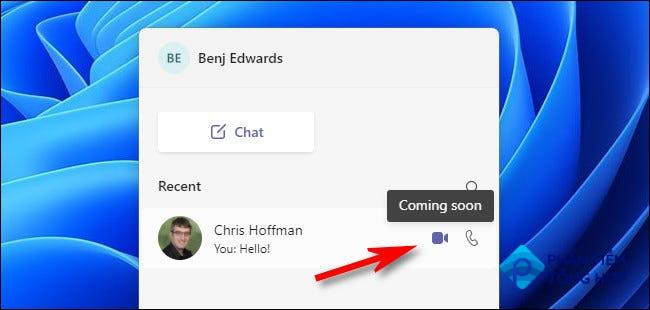 Audio and video chat coming soon to Teams Chat in Windows 11.