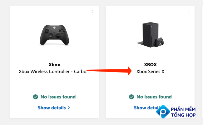 Click on your Xbox on the Microsoft Devices page. The name assigned to the console and its model name will be mentioned here.