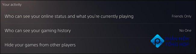 """""""Your Activity"""" PS5 privacy settings"""
