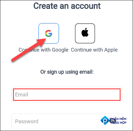 Sign up with an account.