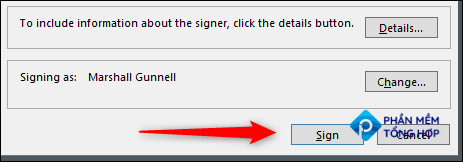 Click Sign to sign the document.