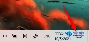 click the notifications menu icon