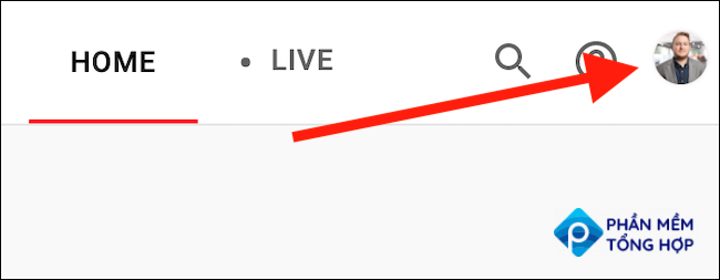 Click you YouTube TV avatar in the top-right corner