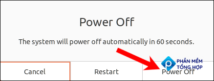 """Wait 60 seconds for the machine to power off, or click """"Power Off"""" to skip."""