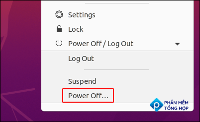 """Click the """"Power Off"""" option."""