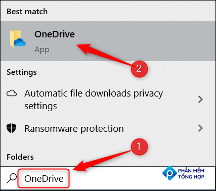 Search for OneDrive.