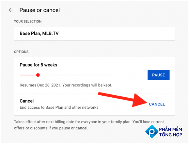 """Select the """"Cancel"""" link"""