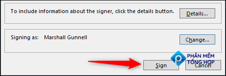 Sign with your digital signature.