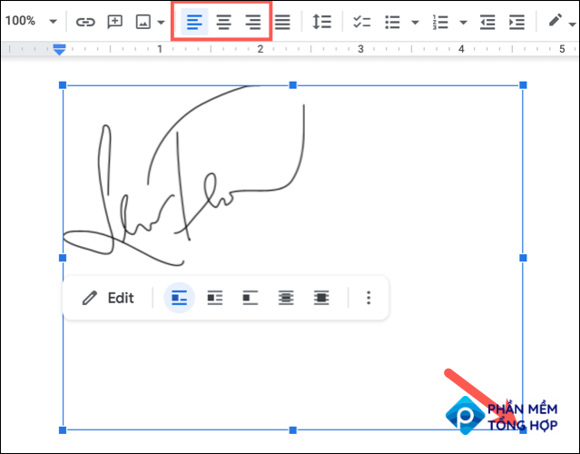 Resize or align the signature image