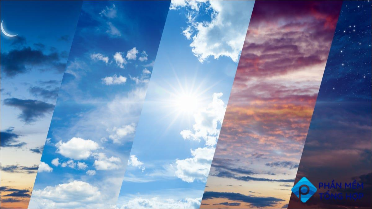 Weather backgrounds.