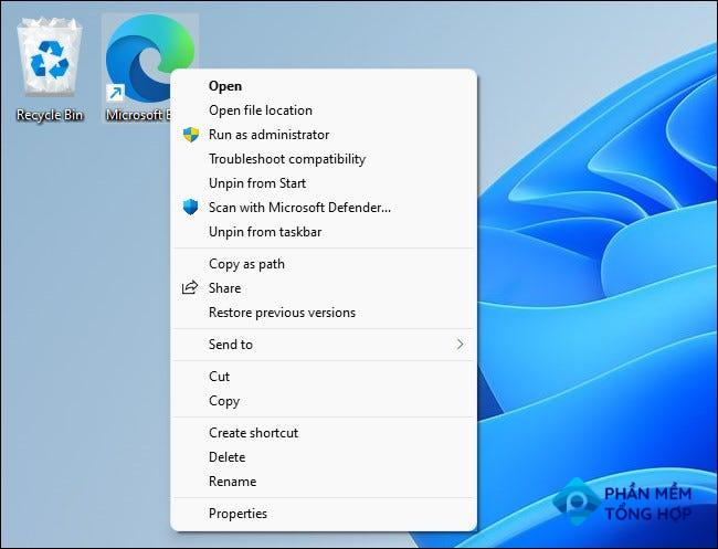 Press Shift+F10 to see the classic context menu in Windows 11.