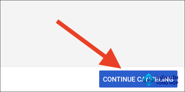 """YouTube TV will offer pausing your membership. Select the """"Continue Canceling"""" button to proceed"""